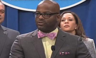 Isadore Hall at a news conference.