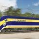 Conceptual photo of California bullet train