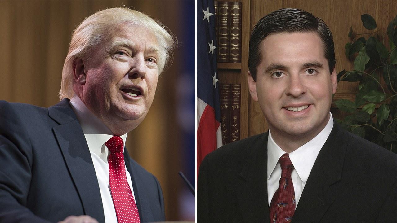 Composite image of President Trump and Devin Nunes