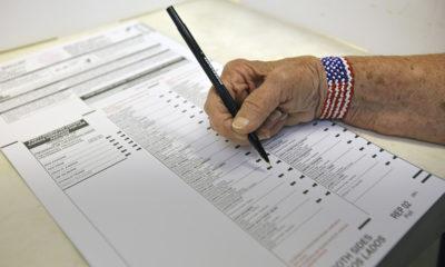 Voting of a person marking a California ballot