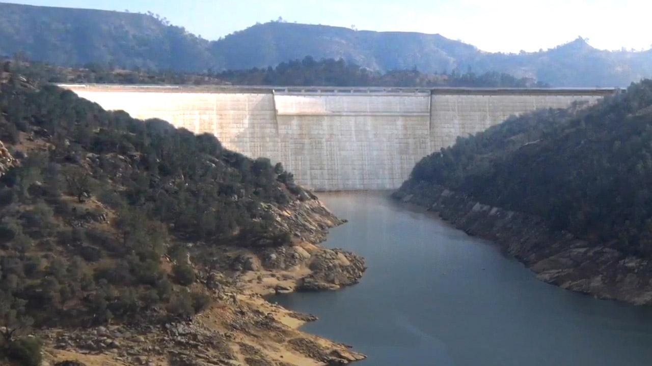 Photo Illustration of the proposed Temperance Flat dam north of Fresno, California