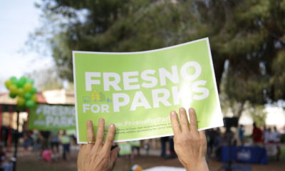 GV Wire photo of Fresno For Parks sign
