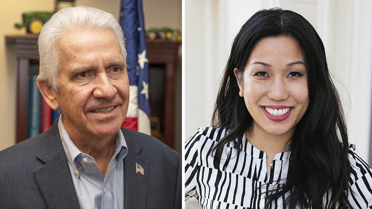 Photos of Jim Costa, left, and Elizabeth Heng,
