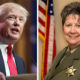 Combo portraits of President Trump and Fresno County Sheriff Margaret Mims