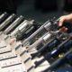 Photo of handguns at a Las Vegas trade show