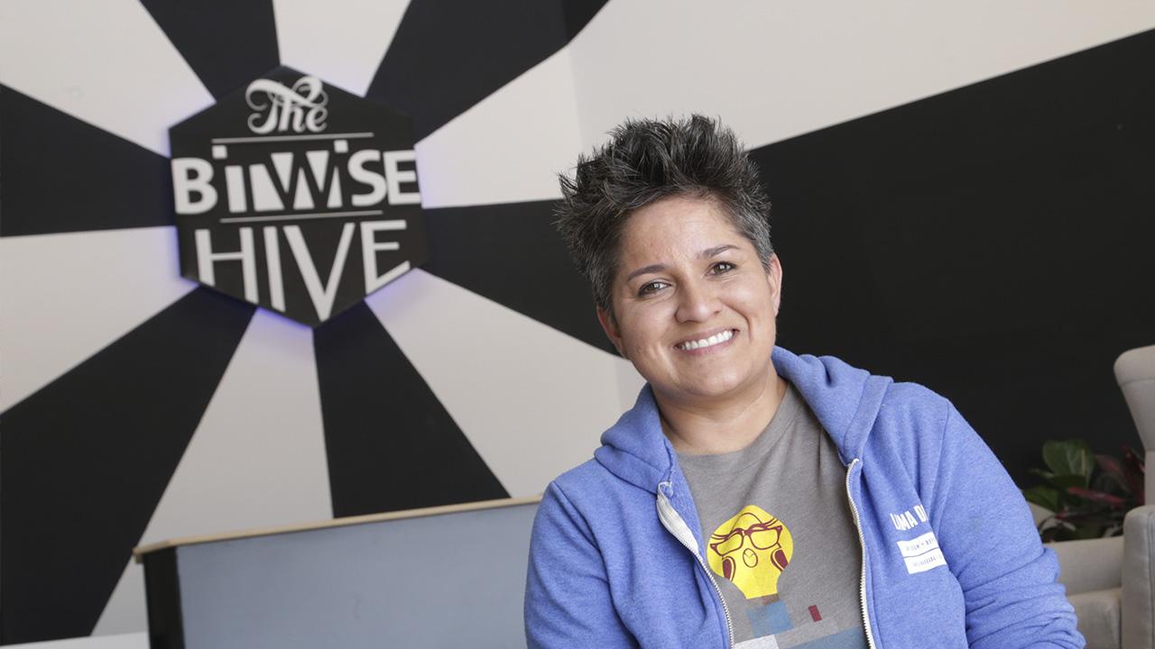 Portrait of Irma Olguin Jr. at Bitwise in Fresno, CA
