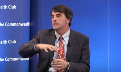 Photo of Tim Draper talking to the Commonwealth Club of California