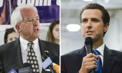 John Cox, left, and Gavin Newsom, finalists for 2018 California gubernatorial race