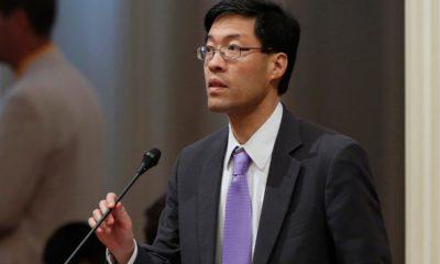 Photo of Sen. Richard Pan speaking to lawmakers in Sacramento