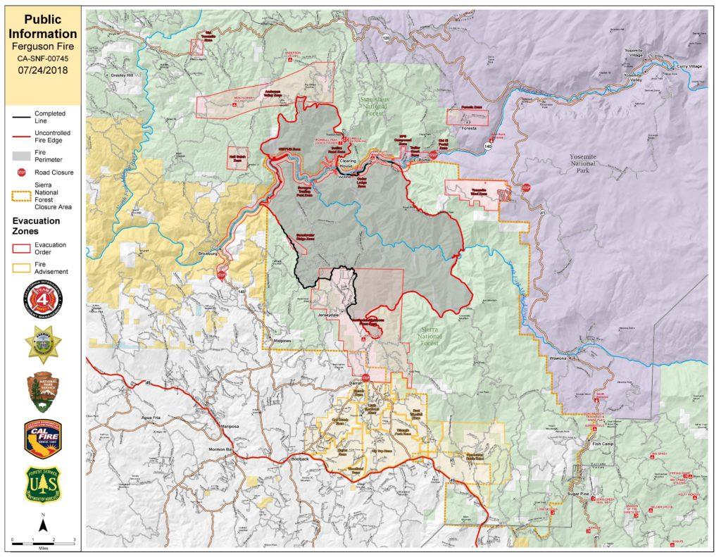 Ferguson Fire map