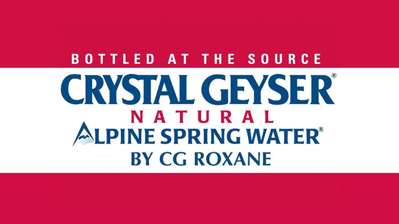 Photo of a Crystal Geyser label