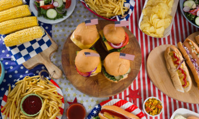 Photo of a July 4 cookout spread