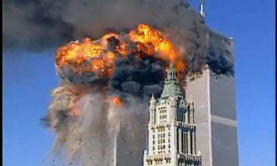 Photo of World Trade Center during 9/11 terrorist attacks
