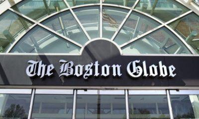 Photo of the facade of The Boston Globe building