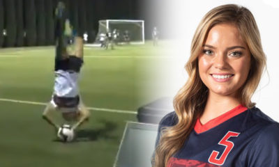 Composite Photo Illustration of Fresno State Soccer Player Chloe Chedester