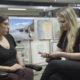 Photo of Alexandra Jaffe and Mackenzie Mays talking