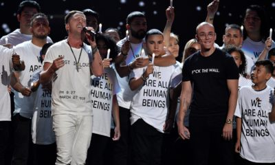 Photo of Ryan Tedder and Logic performing that the MTV Video Music Awards, 2018