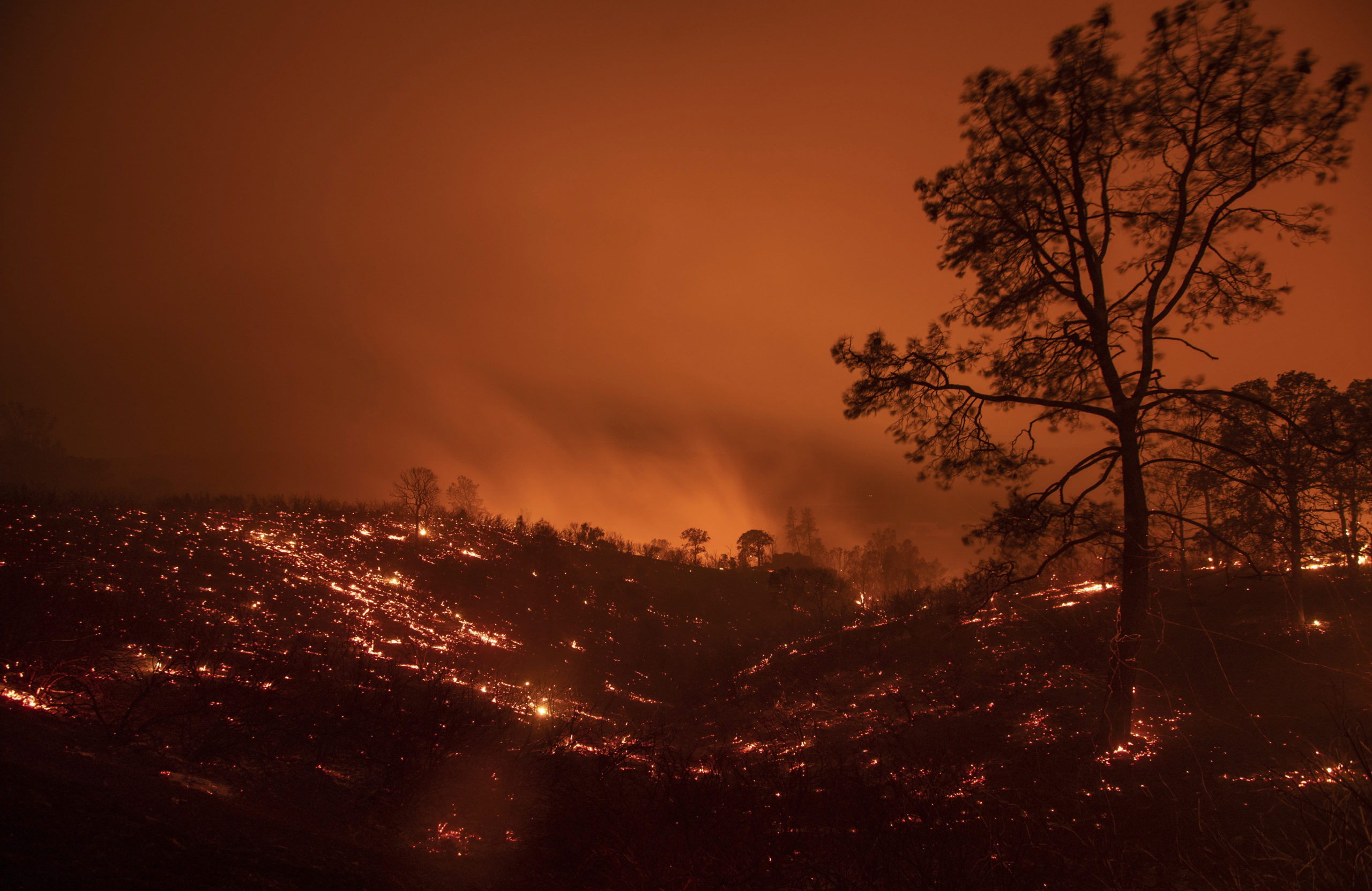 Photo of the Ranch Fire in Clearlake Oaks, Calif.