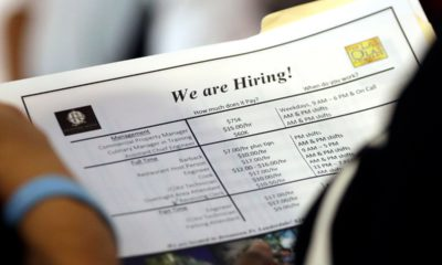File photo of a job applicant looking at jobs