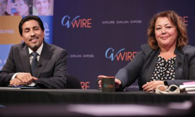 Photo of incumbent Christopher De La Cerda and challenger Veva Islas