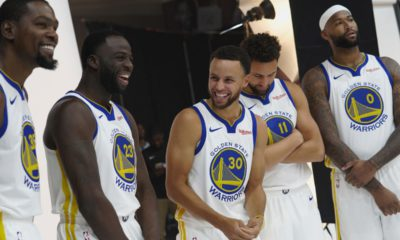 Photo of Warriors during Media Day photoshoots
