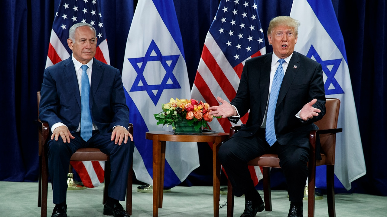 Photo of Benjamin Netanyahu and President Donald Trump