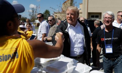 Photo of President Donald Trump visiting the Temple Baptist Church