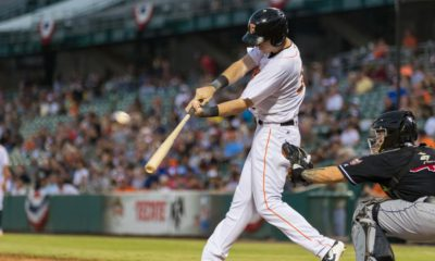 Photo of a Fresno Grizzlies hitter swinging his bat