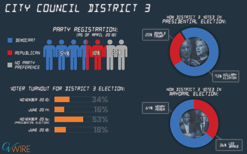 Infographic of City Council District 3 demographics
