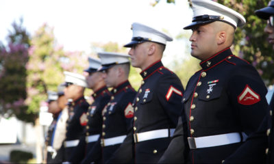 Photo of Marines at 9/11 remembrance event in Clovis