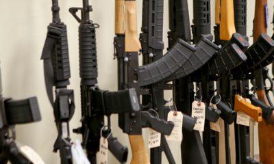 Photo of semi-automatic rifles