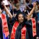 Photo of Fresno State grads celebrating