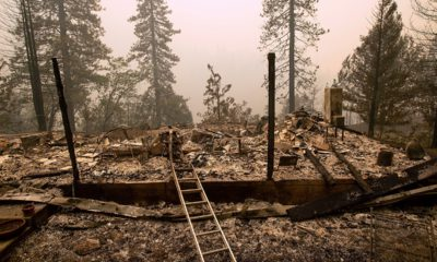 Photo of a home that has been leveled by the Delta Fire in California