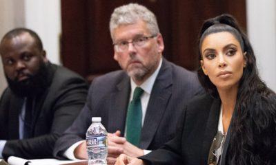 Photo of Kim Kardashian West at White House meeting in regard to prison reform