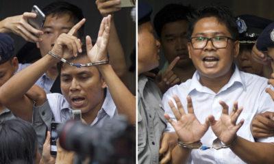 Photo of sentenced Reuters journalists