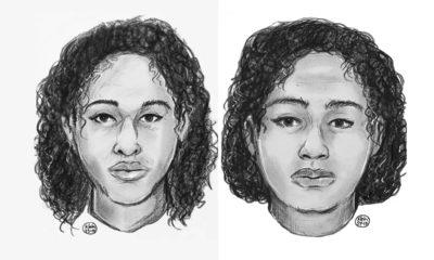 Police sketch of sisters Rotana, left and Tala Farea