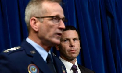 Photo of U.S. Customs and Border Protection Commissioner Kevin McAleenan and Commander of United States Northern Command and North American Aerospace Defense Command Gen. Terrence John O'Shaughnessy