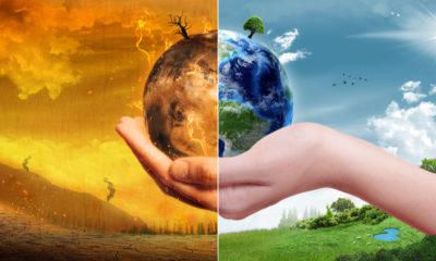 Photo illustration depicting impacts of climate change