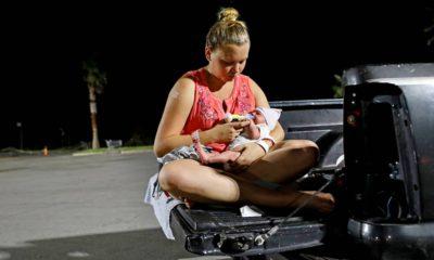 Photo of Lorrainda Smith sitting with her 2-day-old son, Luke