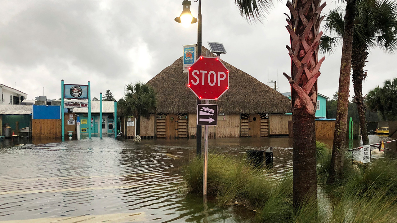 Photo of flooding in St. Marks, Fla. due to Hurricane Michael