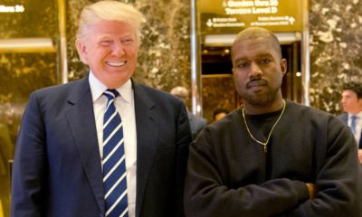 Photo of Kanye West and President Donald Trump