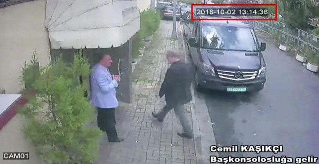 Photo of CCTV footage of missing Saudi journalist Jamal Khashoggi