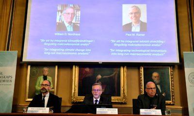 Photo of laureates of the Nobel Prize in Economics