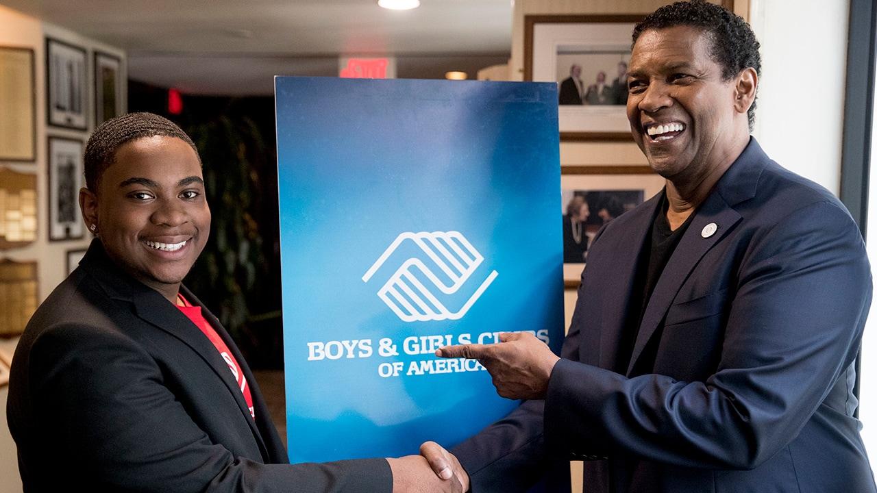 Photo of Denzel Washington and Malachi Haynes