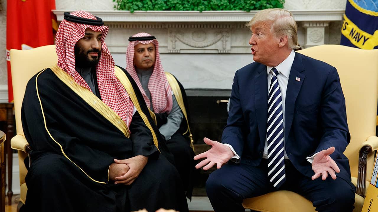 Photo of President Trump meeting with Saudi Arabia's crown prince