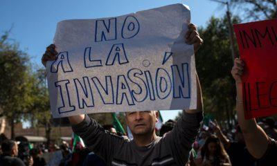 Photo of protester in Tijuana