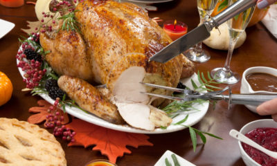 Photo of turkey and other Thanksgiving goodies