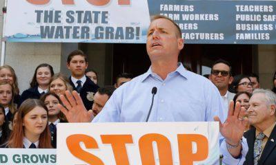 Photo of Jeff Denham speaking at a rally