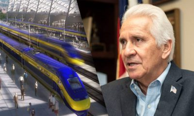 Photo Combination of High Speed Rail and Jim Costa