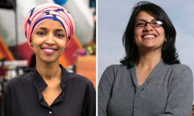 Photos of Rep. lhan Omar and Rep. Rashida Tlaib